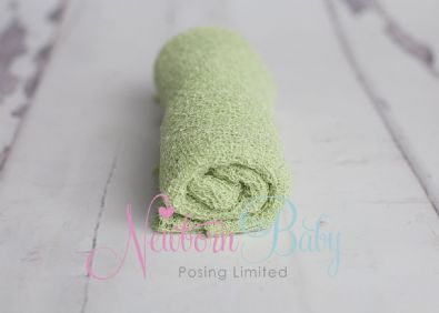Green Stretch Wrap | Newborn Baby Posing Limited